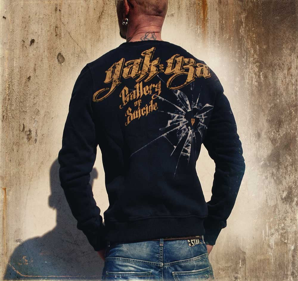 yakuza herren sweat pullover sw 26 schwarz rundhals men. Black Bedroom Furniture Sets. Home Design Ideas
